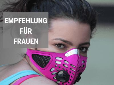 Feinstaubmasken Empfehlung für Frauen