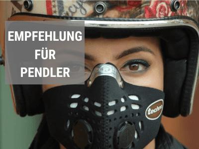 Feinstaubmasken Empfehlung für Pendler